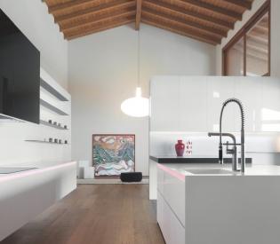 Кухонный гарнитур MK Cucine 012 Corian Rovere grafite