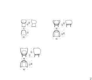 Кресло Moroso Armada