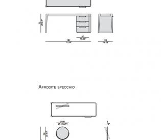 Туалетный столик Porada Afrodite
