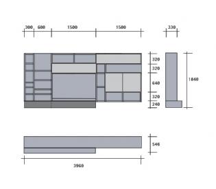 Стенка SanGiacomo Modo M4C22