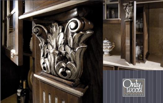 Кухонный гарнитур из массива дерева Onlywood Victoria в наличии