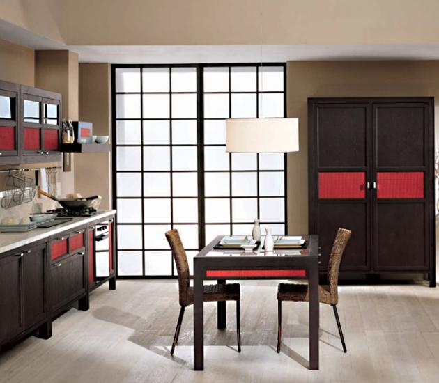 Кухонный гарнитур Bamax Shogun Rovere Black and Red