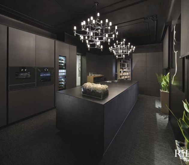 Кухонный гарнитур RiFRA ONE Cemento nero + laccato nero opaco