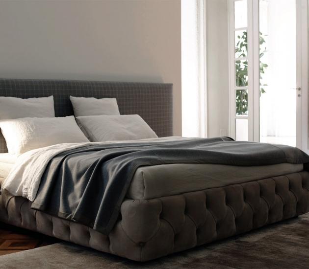 Кровать Meridiani Tuyo Plain + Base 30 Capitonne