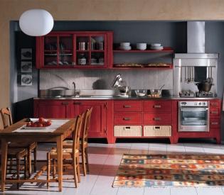 Кухонный гарнитур Bamax Bretagna Rossa