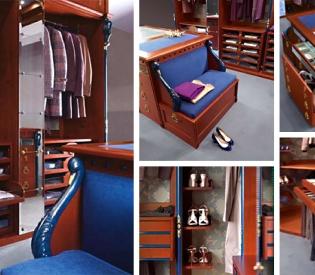 Гардеробная комната Bamax Cigno Nero Laccato Blu