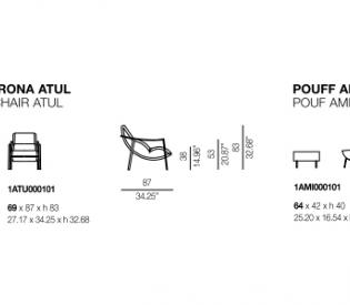 Кресло Bontempi Casa Atul & Amit