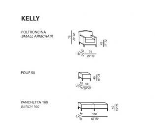 Кресло Meridiani Kelly