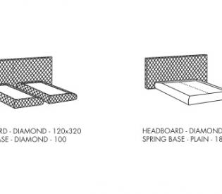 Кровать Meridiani Tuyo Diamond + Base 30 Diamond