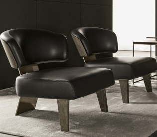 Кресло Minotti Creed Large Wood