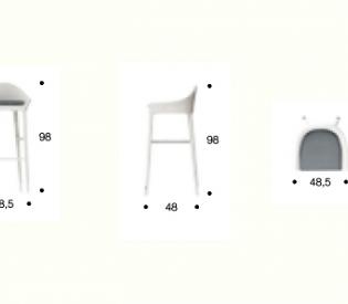 Барный стул Smania Ponza