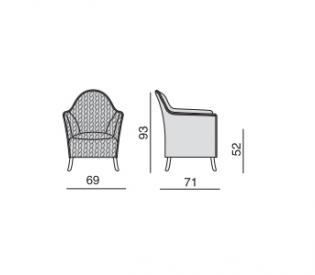 Кресло Vittoria Frigerio Alma