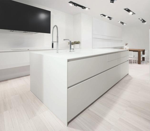 Кухонный гарнитур MK Cucine 012 Corian Glacier