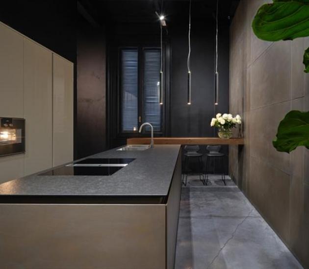Кухонный гарнитур RiFRA FLY Metallo Bronzo + Laccato corda lucido