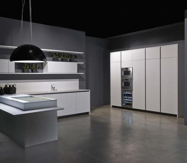 Кухонный гарнитур RiFRA LINE Kitchen lacquered white pure matt