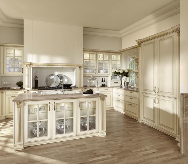 Кухонный гарнитур BEECK Küchen Belux Magnolie Gold Patin