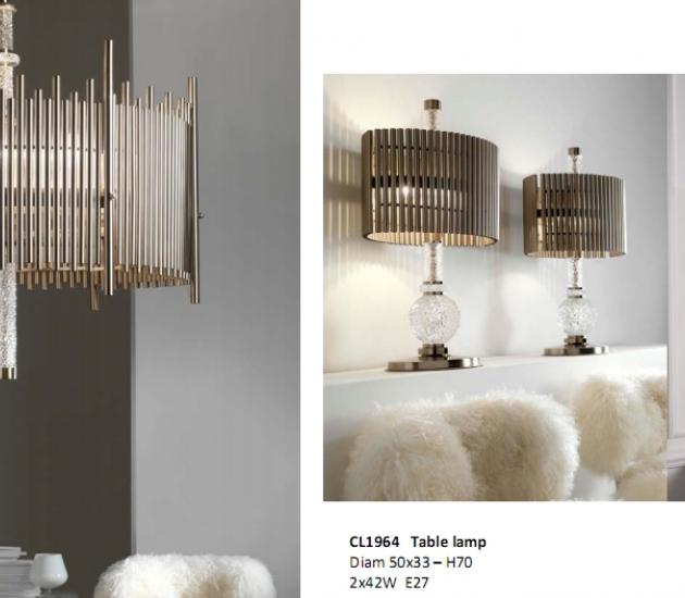 Набор: Люстра, Настольная лампа, Бра Sigma Elle Due