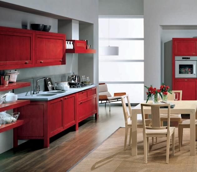 Кухонный гарнитур Bamax Shogun Rovere Rosso
