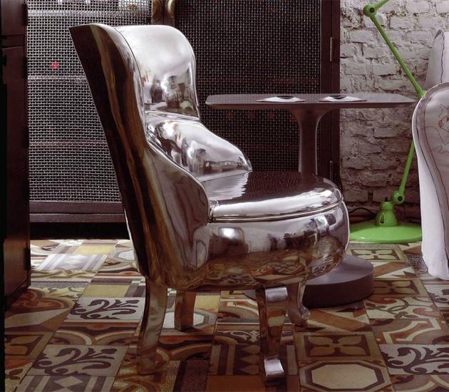 Кресло Baxter Sellerina Aluminium