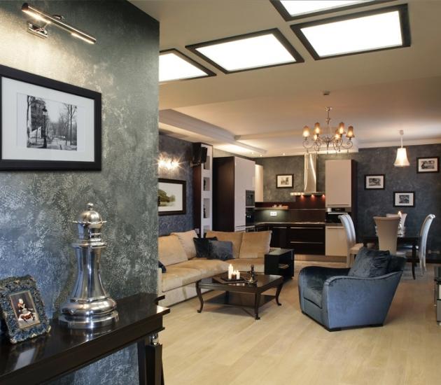 Ар-деко итальянская мебель в интерьере квартиры