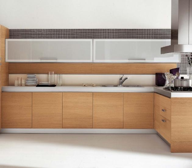 Кухонный гарнитур MK Cucine Size+Line Rovere Sbiancato