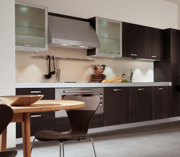 Кухонный гарнитур MK Cucine Size Rovere Grafito