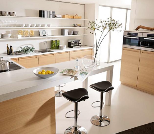 Кухонный гарнитур BEECK Küchen Vele eiche bianco